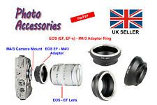Canon EOS EF/EF-s Lens To Micro Four Thirds M4/3 Adapter Ring Olympus/Panasonic