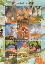 Noël 2002 ange fée pixie elfe somalie neuf sans charnière timbre sheetlet