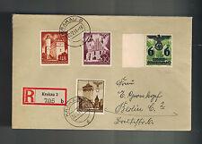 1941 Krakow Poland to Berlin Germany GG cover