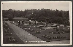 Postcard Monk Fryston Hall nr Selby in North Yorkshire gardeners The Garden RP
