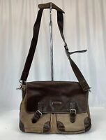 Cole Hanne Two Tone All Leather Suede Bag Computer Bag