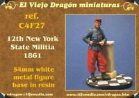 FANTASSIN 12th NEW YORK MILITIA - Fig. metal EL VIEJO DRAGON 54 mm - Ref. C4F27