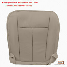2011 2012 Ford Expedition - PASSENGER Bottom Gray Perforated Leather Seat Cover