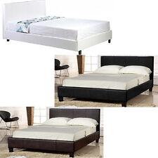5 FT (ca. 1.52 m) King size in Finta Pelle Poggiatesta LETTO LETTI camera da letto bianco design moderno di lusso