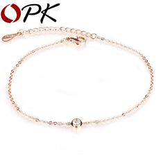 Rose Gold Aaa Cz Anklets Ankle Bracelet Xmas Gifts For Wife Girlfriend Mum Women