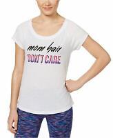 Ideology Women's Mom Hair Don't Care Slogan Athletic Fitness T-Shirt Size Medium