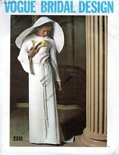Vogue Bridal Design Vintage Sewing Pattern 1970 Wedding Dress Bride Gown Design