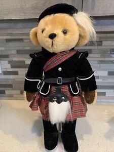 "Harrods 18"" Scottish Highlands Teddy Bear Plush Stuffed Bear By Merrythought"