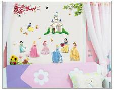 Castle Princess Butterfly Wall Decal Sticker Vinyl Mural Kids Girls Room Decor