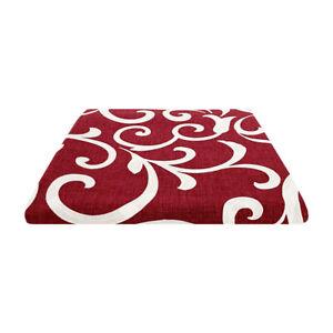 Tessuto Ghirigori Rosso Melangiato Taglio 280x280cm Cuscini Tovaglie Arredo Casa
