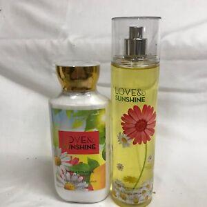 Bath & Body Works LOVE & SUNSHINE Body Lotion & Fragrance Mist Set 2 Strawberry