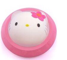 lindo gato rosa bebé cuarto del bebé Mesita Noche Lámpara LED Lámpara Mesilla