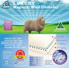 Fully Fitted magnetic therapy Wool Underlay Underblanket Topper Bed-QUEEN
