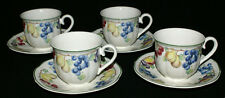 Villeroy and Boch Melina China * FOUR Flat Cups and Saucers