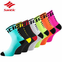 Santic Wome Men Cycling Socks Anti-sweat Breathable Sports Bicycle Bike Sock Lot