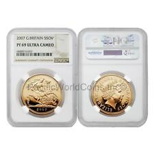 Great Britain 2007 5 Sovereign Gold NGC PF69 Ultra Cameo