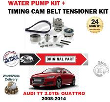 FOR AUDI TT CBBB CFGB 8J3 2008-2014 TIMING CAM BELT KIT and WATER PUMP SET