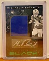 Michael Pittman Jr. Rookie 2020 Panini Black Emerald PATCH AUTO RPA /25 #219 RC