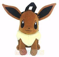 "New Pokemon Eevee Plush Doll Backpack Soft Stuffed 14"" Costume Bag"