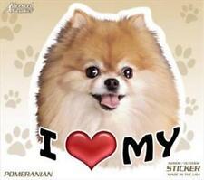 "I Love My Pomeranian Dog 4"" Car Truck Home Vinyl Sticker Decal Pet Gift Usa"