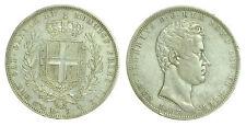pci0039) Carlo Alberto (1831-1849) Lire 5 1837 GE in patina
