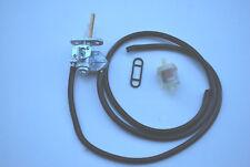 SUZUKI LT80 FUEL PETROL TAP  WITH NEW FILTER FUEL PIPE & VACUUM PIPE