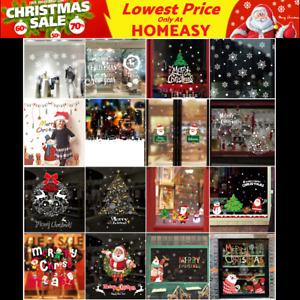 16 Options Christmas Wall Decals Vinyl Window Sticker Removable Xmas Decor DIY