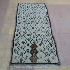 """Vintage moroccan Azilal rug colourful carpet 7' 5"""" x 3' 3"""" berber rugs"""