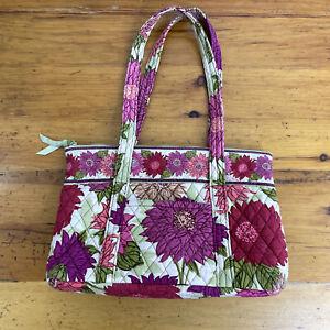 Vera Bradley Hello Dahlia! Pattern Handbag Tote Double Handle