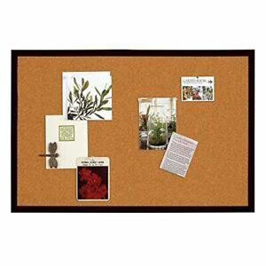 Quartet Bulletin Board, Cork Board, 2' x 3', Black Frame Wood Pin Board, NEW
