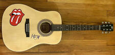 MICK JAGGER SIGNED AUTOGRAPH ACOUSTIC GUITAR - ROLLING STONES, VERY RARE! REAL