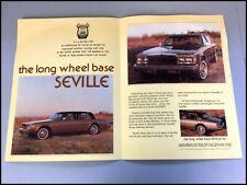 1976 1977 1978 Armbruster Stageway Cadillac Seville Car Sales Brochure Folder
