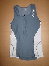 Womens 2XU tank top with built n sports bra S Sm running workout tennis gym
