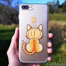 MADE IN JAPAN Soft Clear TPU Case Cute Cat for iPhone 7 Plus