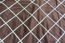 100% Pure Silk Palazzo Marrane Brown Curtain fabric 13m