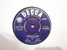 JET HARRIS & TONY MEEHAN,  SCARLET O'HARA,  DECCA RECORDS 1963  EX+