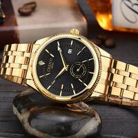 CHENXI Day Date Wrist Watch Stainless Steel Mens Army Sport Quartz Wrist Watch