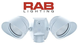 RAB Lighting SMSBULLET2X12NW Two Adjustable LED Floodlight with 180-Degree White