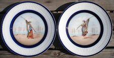 - Pêcheuses de crevettes en Normandie vers 1892 TH.HAVILAND Porcelaine Limoges