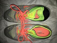 Nike Free 5 Comfort Neon Green Orange Running Athletic Workout Women shoe SZ 10