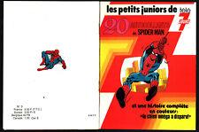 LES PETITS JUNIORS DE TELE 7 JOURS ¤ 1977 SPIDER-MAN avec 20 STICKER AUTOCOLLANT