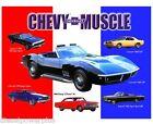 Vintage Replica Metal Sign Chevy Chevrolet Muscle Camaro Chevelle Nova Impala