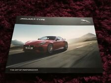 Jaguar F-Type Brochure 2019 - inc new 2.0 engine, R & SVR - Final Printed Issue