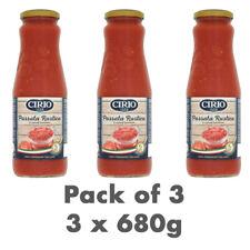 Cirio Passata Rustica 100% Italian crushed Tomatoes pack of 3 x 680g