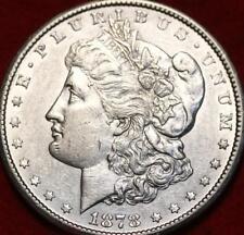 Uncirculated 1878-CC Carson City Mint Silver Morgan Dollar