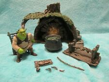 RARE 2001 McFarlane Shrek - Swamp House - Ogre Action Figure Toy Forest Play Set