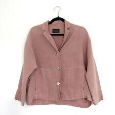 Oska II (2) Size 12 Dusky Pink 100% Linen Lagenlook Quirky Arty Jacket Blazer