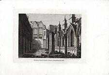 ANTIQUE SCOTTISH à imprimer à l'intérieur Holyrood Chapel-Hooper en taille-douce (17880