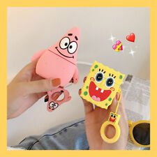 Cute Cartoon SpongeBob Silicone Headphone Cover Apple AirPods1 2 Charging Case