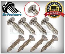 "Flat Head Phillips Drive Sheet Metal Screws Stainless Steel #10 x 1-1/2"" Qty 100"